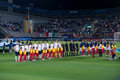 England vs italy national teams presentation before their match european championship u israel Stock Image