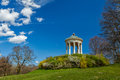 Englischer garten munich germany monopteros greek style temple in Royalty Free Stock Photos