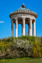 Englischer garten munich germany monopteros greek style temple in Stock Photos