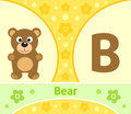 The english alphabet b with bear Royalty Free Stock Photo