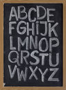 English alphabet on blackboard Royalty Free Stock Image