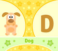 The english alphabet d with dog Royalty Free Stock Photography