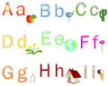 English Alphabet stickers. Royalty Free Stock Photo