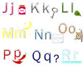 English Alphabet stickers. Royalty Free Stock Image