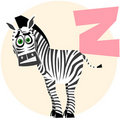 The English alphabet. Zebra Stock Images