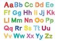 English alphabets Royalty Free Stock Photo