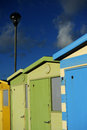 English Beach Huts Royalty Free Stock Photography