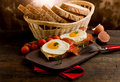 English Breakfast with Eggs and Bacon Royalty Free Stock Photo