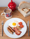 English breakfast on a table Royalty Free Stock Photography
