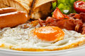 English breakfast toast egg bacon and vegetables Stock Image