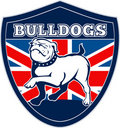 English bulldog British Flag Royalty Free Stock Image