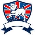 English bulldog Great Britain flag Royalty Free Stock Photography