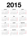 English Calendar For 2015