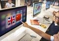 English Chinese Languages Translation Application Concept