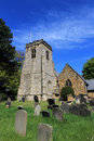 English church and cemetery scalby village england Royalty Free Stock Images