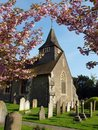 English Church in spring Royalty Free Stock Photo