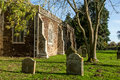 English churchyard in autumn traditional sunshine Stock Image