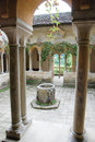 English cloisters historical italian designed columns and at the national trust property iford manor Royalty Free Stock Photos