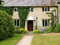 English cottage and garden exterior of an old Stock Photo