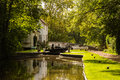 English Country Canal Lock Royalty Free Stock Photography