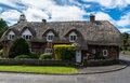 English country house with thatch roof Royalty Free Stock Photo