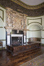English country manor house interior fireplace in the of a large or stately home yorkshire in north east england Royalty Free Stock Photos