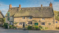 English country pub a typical with a thatched roof Royalty Free Stock Images