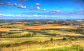 English countryside from ivinghoe beacon chiltern hills buckinghamshire uk in colourful hdr england Stock Images