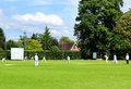 English Cricket Match Royalty Free Stock Photo