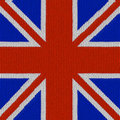 English flag in knitting pattern Royalty Free Stock Photo