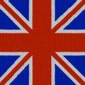 English flag in knitting pattern Royalty Free Stock Photo