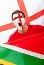 English football fan Stock Image