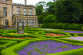 English garden and a house Royalty Free Stock Photo