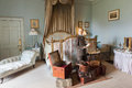 English gentleman with suitcases wax figure of preparing to journey warwick castle bedroom scene warwickshire england Royalty Free Stock Photos