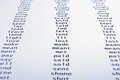 English irregular verbs Royalty Free Stock Photo
