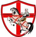 English Knight Rider Horse England Flag Retro Royalty Free Stock Photo
