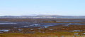 English Lake District panorama from Hest Bank. Royalty Free Stock Image