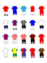 English league clubs kits premier Royalty Free Stock Photography