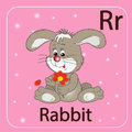 The english letter r and a rabbit stock image Royalty Free Stock Photography