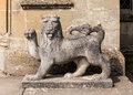 English Lion Sculpture, Croft Castle, Herefordshire. Royalty Free Stock Photo
