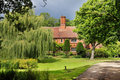 English  Manor Farmhouse and garden Royalty Free Stock Image