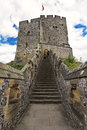 English medieval castle of Arundel the seat of the Dukes of Norfolk. Ancient stone fortification from middle ages (UK) Royalty Free Stock Photo