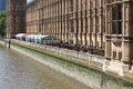 English Parliament Patio Royalty Free Stock Photo