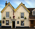 English pub in winter Royalty Free Stock Photo