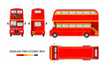 English red double decker bus Royalty Free Stock Photo