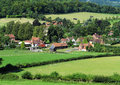 An English Rural Hamlet in Oxfordshire Stock Photo