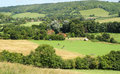 An english rural landscape in the chiltern hills with hamlet Royalty Free Stock Photo