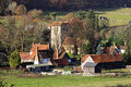 An english rural landscape in the chiltern hills with the hamlet of fingest Royalty Free Stock Image