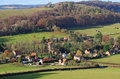 An english rural landscape in the chiltern hills with the hamlet of fingest in the distance Royalty Free Stock Image