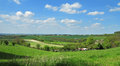 An english rural landscape in the chiltern hills with pastures and fields of crops Royalty Free Stock Photos